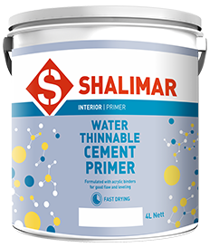 shalimar paints water thinnable cement primer